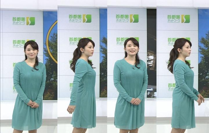 【画像あり】NHK橋本奈穂子アナのボディラインがあまりにもスケベ過ぎる件