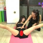 橋本マナミがテレビでSEX体操を伝授されお股全開マン型くっきり&四つん這いの胸チラエロポーズを披露wwwwwwwwww