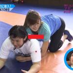 【画像】元シンクロ・青木愛さんがテレビで胸チラ放送事故wwwwwwwww