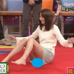関西のローカル番組で鹿沼憂妃という激カワモデルが豪快マンビラ公開wwwwwwwwww(画像あり)