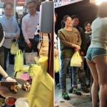 【台湾】美女が激エロなショートパンツで肉を切った結果、屋台に客が殺到wwwwwwwwwwwwwww