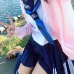 【画像】最強のロ●っ娘がセーラー服の下にスク水を着て撮影wwwwwwwwwwwww
